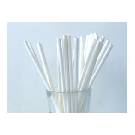 Pailles blanches 8po 500 / bte